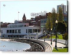 The Sala Burton Building . Maritime Museum And The Ghirardelli Chocolate Factory . Sf Ca . 7d14061 Acrylic Print by Wingsdomain Art and Photography