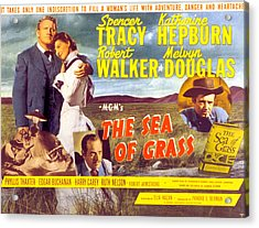 The Sea Of Grass, Spencer Tracy Acrylic Print by Everett