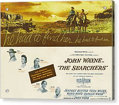 The Searchers, John Wayne, Natalie Acrylic Print by Everett