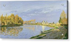 The Seine At Bougival Acrylic Print by Claude Monet