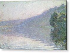 The Seine At Port Villez Acrylic Print by Claude Monet