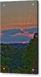 The Setting Sun Acrylic Print by Shirley Tinkham