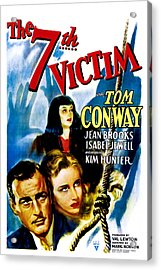 The Seventh Victim, Tom Conway, Kim Acrylic Print by Everett