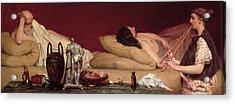 The Siesta Acrylic Print by Sir Lawrence Alma-Tadema