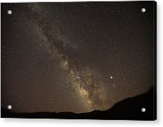 The Southern Milky Way Above Meteor Acrylic Print by Stephen Alvarez