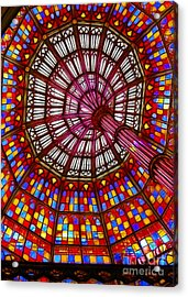The Stained Glass Ceiling Acrylic Print by Judi Bagwell