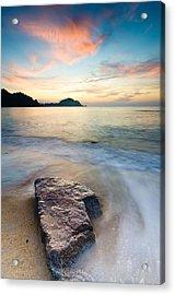 The Stone Acrylic Print by Yusri Salleh