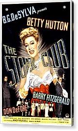 The Stork Club, Don Defore, Betty Acrylic Print by Everett