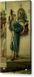 The Street Altar Acrylic Print by Sir Lawrence Alma-Tadema
