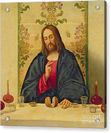 The Supper At Emmaus Acrylic Print by Vincenzo di Biaio Catena