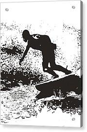 The Surfer Acrylic Print by Brian Roscorla