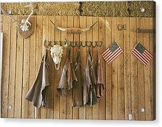 The Tack Room At Saddleback Ranch Acrylic Print by Taylor S. Kennedy