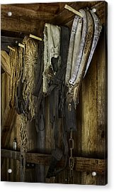 The Tack Room Wall Acrylic Print by Lynn Palmer