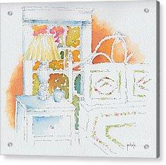 The Terra Cotta Room Acrylic Print by Pat Katz
