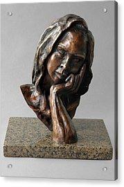 The Thinker Acrylic Print by Eduardo Gomez