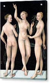 The Three Graces Acrylic Print by Lucas Cranach the Elder
