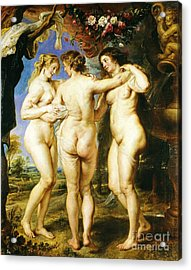 The Three Graces Acrylic Print by Pg Reproductions