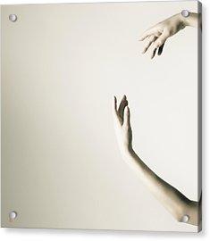 The Tilt Hands Acrylic Print by Nikolay Krusser