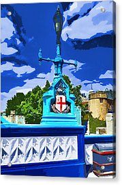 The Tower Lamp Post Acrylic Print by Steve Taylor