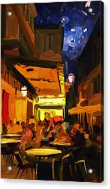 The Van Gogh Cafe Acrylic Print by Nop Briex