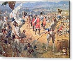 The Victory Of Montcalms Troops At Carillon Acrylic Print by Henry Alexander Ogden
