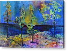 The View Acrylic Print by Claire Bull