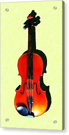 The Violin . Light Version . Painterly Acrylic Print by Wingsdomain Art and Photography