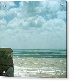 The Waves Bellow Us Acrylic Print by Paul Grand