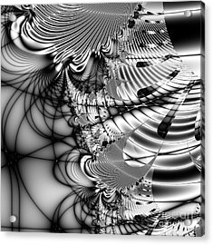 The Web We Weave . Square Acrylic Print by Wingsdomain Art and Photography