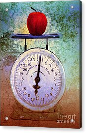 The Weight Of An Apple Acrylic Print by Tara Turner