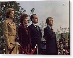 The Welcoming Ceremony For The Shah Acrylic Print by Everett