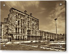 The West Virginia State Penitentiary Backside Acrylic Print by Dan Friend