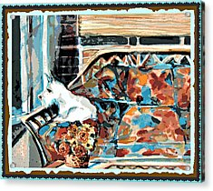 The Westie Watch Acrylic Print by Mindy Newman
