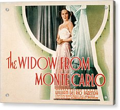 The Widow From Monte Carlo, Dolores Del Acrylic Print by Everett