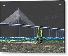 The Wind Surfer Acrylic Print by David Lee Thompson