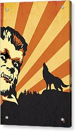 The Wolfman Acrylic Print by Dave Drake