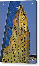 The Wrigley Building Acrylic Print by Mary Machare