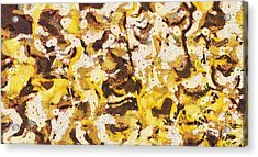The Yellow Paintings Acrylic Print by Odon Czintos