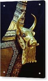 This Gilded Bull Originates Acrylic Print by Lynn Abercrombie