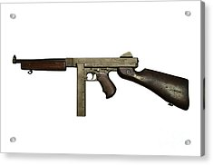 Thompson Model M1a1 Submachine Gun Acrylic Print by Andrew Chittock