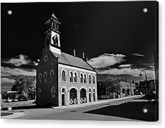 Thorold's Old Fire Hall Acrylic Print by Guy Whiteley