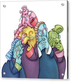 Thoughtful Lawyers Acrylic Print by Autogiro Illustration