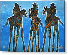 Three In The Blue Acrylic Print by Lance Headlee