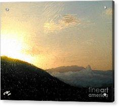Thumb Butte Acrylic Print by Arne Hansen