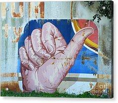 Thumbs Up Acrylic Print by Joe Jake Pratt
