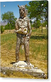 Thunder Mountain Indian Monument - Demon Acrylic Print by Gregory Dyer