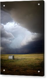 Thunderstorm Over The Plains Acrylic Print by Ellen Heaverlo