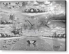 Tidal Pools Acrylic Print by Betsy Knapp