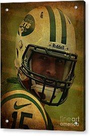 Tim Tebow - New York Jets - Timothy Richard Tebow Acrylic Print by Lee Dos Santos