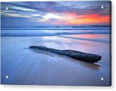 Timber On The Beach Acrylic Print by Teerapat Pattanasoponpong
